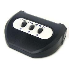 3 PORT 3-Way RJ45 Manual Switch CAT5E CAT5 Networking LAN UTP Ethernet Splitter