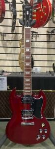 TOKAI USG58 SG-STYLE ELECTRIC GUITAR, CHERRY RED, NEW