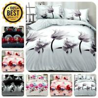 3D Design Duvet Cover Complete Bedding Set Fitted Sheet & 2 Pillow Cases