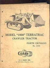 1958 J I CASE PARTS CATALOG  MODEL 1000 TERRATRAC CRAWLER TRACTOR / 1006