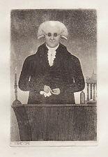 JOHN KAY Original Antique Etching. Dr. Henry Moyes, Lecturer on Chemistry, 1796