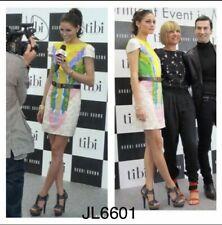 Olivia Palermo x Tibi Calla Lily Watercolor Silk Dress Multicolor Size 2