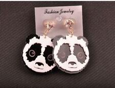 PAIR OF LASER CUT ACRYLIC EARRINGS - GIANT PANDA - FREE UK P&P.......CG1261