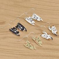 Cat Animal Pendant Dangle Earrings Kawaii Animals Ear Hook Charm Jewelry Chic