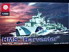 """BRITISH WWII DESTROYER  HMS """"HARVESTER"""", ZTS PLASTYK S-040, SCALE 1:500"""