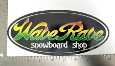 Wave Rave Snowboard Shop Large Sticker Rasta Decal