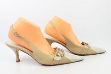 6f785c26a7a VINTAGE Zapatos de salón abiertos ROBERTO G En Piel Beige T 41 MUY BUEN  ESTADO