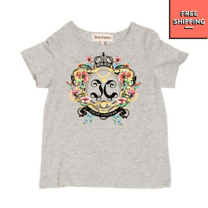 JUICY COUTURE T-Shirt Top Size 12-18M Metallic Effect Melange Coated Front
