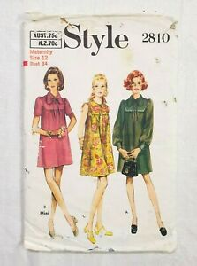 Style 2928 Size 10-1970 Misses Dress Vintage Sewing Pattern