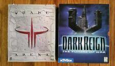 Quake III 3 Arena & Dark Reign the Future of War - Big Box PC - Complete CIB lot