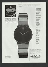 MOVADO The Museum Watch 1995 Print Ad