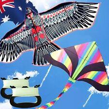 2 Kites Pack Eagle Rainbow Delta Kite Line Included Okite2216 2501&oklin2100x2