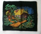 Vintage SOUVENIR OF GERMANY TAPESTRY Painted Cottage 19x15 in.