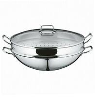 WMF parti wok set 4-partie Wok Pan Ø 36 cm avec couvercle en verre véritable NEU...