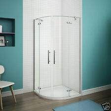 Frameless 900x900 Quadrant Shower Enclosure and Tray Hinge Corner Cubicle Glass