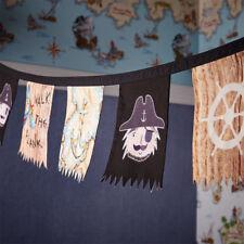 PIRATES Ahoy Garland BUNTING Banner Decoration Home Decor Boys Bedroom