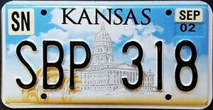 Kansas CAPITOL License Plate (RANDOM PLATE #)