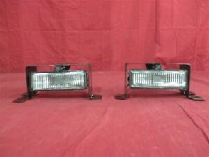 NOS OEM Oldsmobile Cutlass Supreme Fog Lamp Clear Lens 1992 - 1997 PAIR