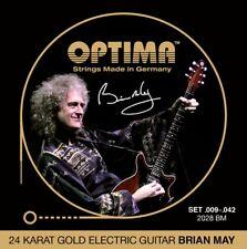 OPTIMA 24K GOLD BRIAN MAY .009 042 guitarras-e Cuerdas KIT, guitarra eléctrica