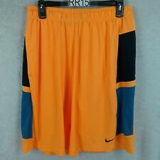 NIKE GYM SHORTS YELLOW BLACK BLUE SIZE LARGE