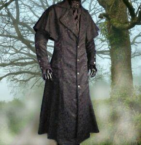 Gothic Mittelalter LARP Mantel Kutschermantel schwarz Sostratus S M L XL XXL NEU