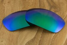 Emerald Blue Green Jade Polarized Mirrored Replacement Lenses for Oakley Jawbone