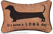 "DECORATIVE PILLOWS - ""ITS BEEN A LONG DAY"" DACHSHUND PILLOW - DOG"