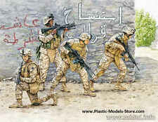 MASTER BOX USMC SOLDIERS IRAQ SET #1 (4) PLASTIC MODEL MILITARY FIGURE 1/35 3575