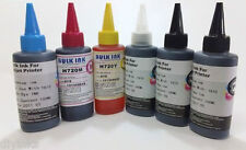 6 Color Compatible Refill INK Set For HP 72 Designjet T610 T620 T790 T770 T1100