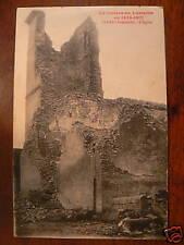 cpa 54 serres bombarde l'eglise guerre 1914 17