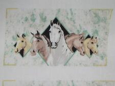 1 fabric panel, 6 sets of oven mitt tops,   HORSES