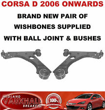 CORSA D PAIR FRONT WISHBONES LOWER SUSPENSION ARMS NEAR & OFF SIDE SRI SXI VXR