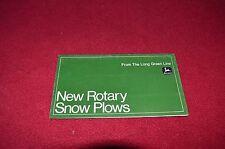 John Deere Tractor Snow Blowers Dealers Brochure LCOH