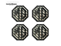 MG TF Alloy Wheel Centre Badge Insert Black Carbon Fibre Silver 45mm Hub Badges