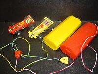 Vintage 1970s Playart No. 1 & 2 Goodyear Slot Cars WIth Battery Packs Untested