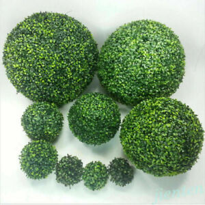 Artifical Plastic Green Grass Ball 12-20cm Topiary Hanging Plant Garland Decor