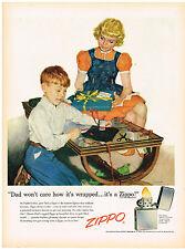 Vintage 1955 Magazine Ad Zippo Lighter Always Works & Manhattan Whisper Batiste