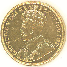 Canada $5 1912 KING GEORGE Sharp Details gold coin