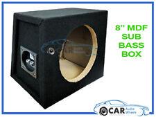 "8"" Recinto Subwoofer Sub Empty MDF nero moquette Boom Bass Box Auto Van Casa"
