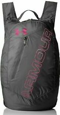 Under Armour UA Packable Travel GYM Backpack POUCH Lightweight Gray Pink NWT