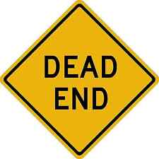 DEAD END SIGN Vinyl Decal / Sticker ** 5 Sizes **