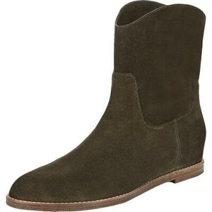 Vince Womens Sinclair Suede Stacked Booties Ankle Boots Shoes BHFO 0186