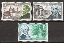 Spain - 1973 Personalities - Mi. 2012-14 MNH