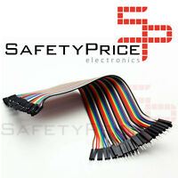 40x Cables 30cm Macho Hembra jumper dupont 2,54 arduino protoboard cable