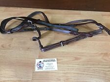 SMALL SIZE LEATHER ENGLISH FANCY STITCHED HORSE BRIDLE