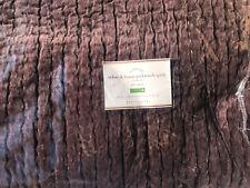 Pottery Barn Velvet Linen Pickstitch Quilt Full/Queen Napa Grape New