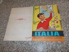 ALBUM ITALIA LA FOLGORE 1965 COMPLETO ORIGINALE OTTIMO/BELLO TIPO PANINI LAMPO
