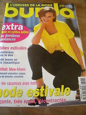 MAGAZINE BURDA ROBES ESTIVALES DECOLLETEES DANS LE DOS LOOK ROMANTIQUE   1997