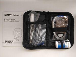 GlucoRx Nexus Blood Glucose Diabetic Testing Monitor/Meter/System + Test Strips