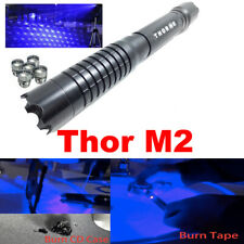 Thor M 2 450nm Blue Light Laser Pointer Pen Adjustable Beam Star Caps